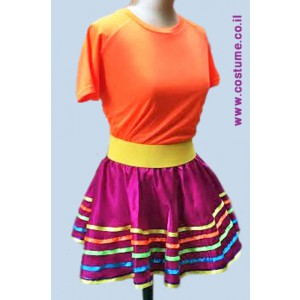 תלבושת למפעילה במידות גדולות  חצאית פסים