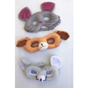 משקפי חיות כלב ועכבר.