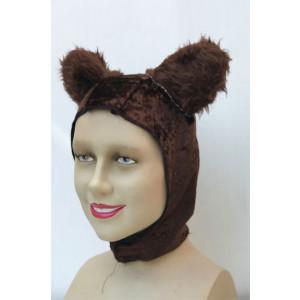 כובע דובי חום כהה תפור