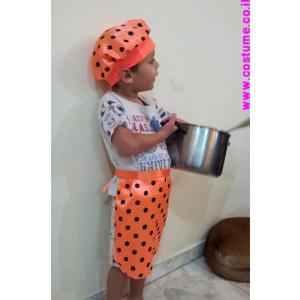 צבעוני או לבן סינור +כובע לטבח
