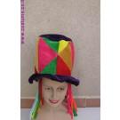 כובע ליצן- שיער וחוטים