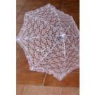 מטרייה תחרה לבן