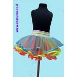 חצאית טוטו בשכבות צבעוניות