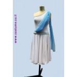 מבחר שמלות כתף אחת עם שילובי צעיף