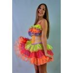 שמלת קרנבל צבעונית להשכרה