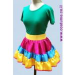 חצאית קומות צבעונית