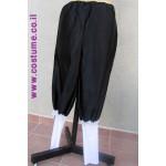 מכנס שחור עם סיומת לבנה