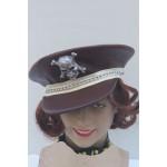 כובע קסקט פיראט עם שיער גינגי