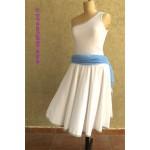 שמלת מחול כחול לבן  להשכרה