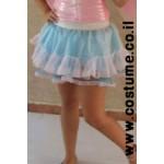 חצאית בלרינה ורוד כחול