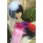 כובע קליפס עם טול במגוון צבעים