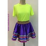 חצאית פסים צבעוניים למחול