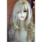 פאה בלונדינית בשיער גלי ארוך