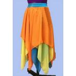 חצאית צבעונית בשלוש שכבות