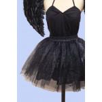 חצאית טוטו בוגרות בשחור ולבן מנצנץ