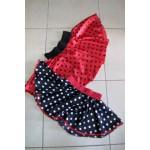 חצאית להשכרה-שחור אדום מנוקד