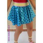 חצאית נקודות בצבעים עזים