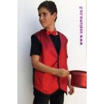 תלבושת למפעיל מידות גדולות - וסט אדום נוצץ
