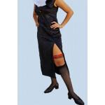 שמלת שסע שחורה ומפתה