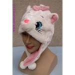 כובע חתול לבן או אפור מעוצב