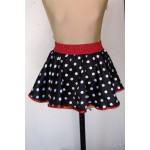 חצאית  עכברה שחור אדום