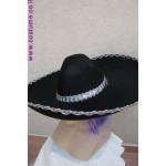 כובע סומבררו שחור למקסיקני