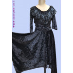 שמלת קטיפה חרוזים