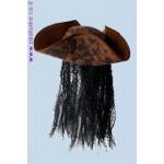 כובע פיראט עם שיער