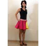חצאית בשילוב צבע נוסף בצד