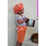 סינור צבעוני +כובע לטבח
