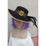 כובע ליידי שחור לבן