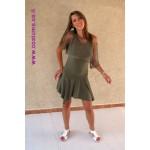 שמלת פינות עם עליונית רשת