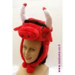 כובע שור אדום מעוצב