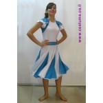 שמלת מחול מעוצבת בכחול לבן