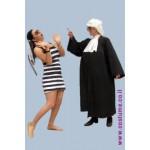 תחפושת זוגית-שופט ואסירה