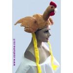 כובע תרנגול חום