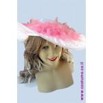 כובע גברת עם צעיף נוצות