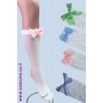 גרבי ברך עם פפיון צבעי פסטל