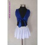 חצאית וחולצת קשירה בכחול או כסף