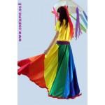 חצאית מצנח צבעי הקשת