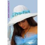 כובע ליידי בהיר מעוטר פרחים