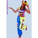 תלבושת ליצן במידות גדולות - סרבלים עם אפליקציה
