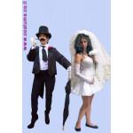 תחפושת זוגית-חתן וכלה במיני