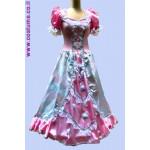 שמלת נסיכה מעוטרת פרחים