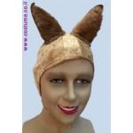 כובע כלב אוזניים מחודדות תפור